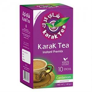 Karak Tea Instant Premix Cardamon 10 Sticks (Unsweetened)
