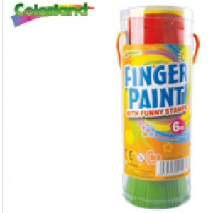 Colorland Maxi 6 Colours Finger Paints With Funny Stamps