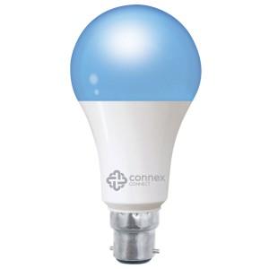 Connex Connect Smart Wi-Fi 10W LED Bulb RGB+W Bayonet