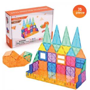 Kids Magnetic Tiles - 78pc