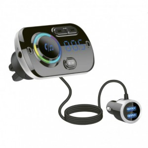 Gizzu Bluetooth Vent-mounted Handsfree FM Transmitter + Dual USB Charger