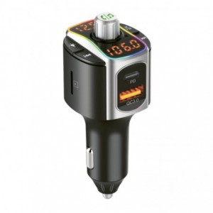 Gizzu Bluetooth Piston Handsfree FM Transmitter + Dual USB Charger with PD