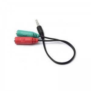 Unbranded STE005  Stereo Male 3.5mm to Mic +Headset Female 3.5mm Connectors