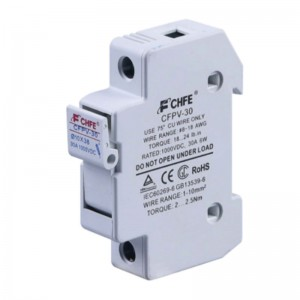 PV Fuse Holder 10x38 up to 30A 1000VDC