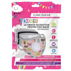 Clinic Gear Kids Washable Protective Mask with Filter -Girls