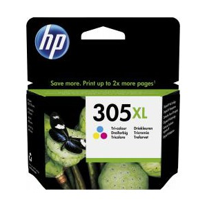 HP  305XL High Yield Tri-color Original Ink Cartridge - Blister Pack