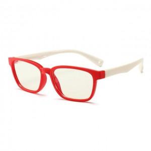 Little Bambino Blue Shield Kids Glasses - Red/White