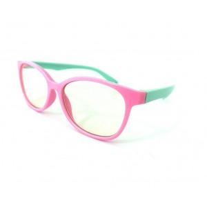 Little Bambino Blue Shield Kids Glasses - Pink/Green