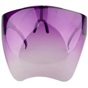 Casey Protective Transparent Anti Fog Isolation Face Shield with Spectacle Frame Mask - Purple