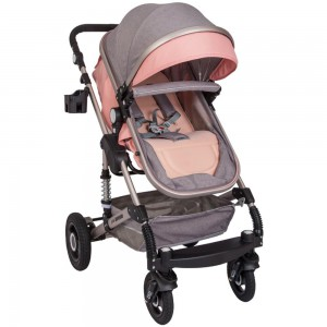 BW739-Little Bambino 3 in1 Stoller- Pink & Grey