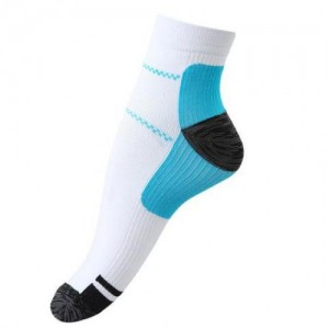 Remedy Blue Planter Fasciitis Compression Socks - S/M