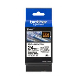Brother TZe-SL251 Self-Laminating Black on White Labelling Tape – 24mm