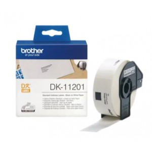 Brother DK-11201 Black on White Label Roll – 29mm x 90mm