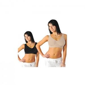Igia Comfy Bra Black and Nude XS