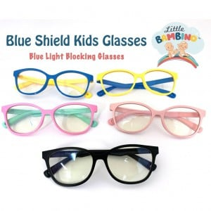 Little Bambino Blue Shield Kids Glasses- Blue Arms