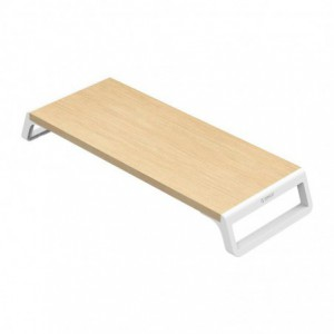 Orico Monitor Stand Riser Wood+ABS - White