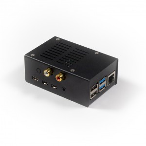 Steel Case for Hifiberry DAC+/ADC, PI 4, V2 - Black