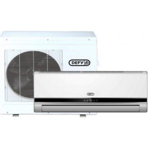 Defy Mid Wall Spit Unit 9000 BTU Inverter Air Conditioner Indoor And Outdoor Bundle - White