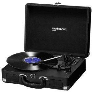 Volkano Retro Series Turntable With Built-in Dynamic Speakers