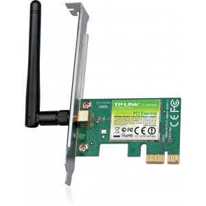 TP-LINK TL-WN781ND Wireless N150 PCI Express Adapter, 2.4GHz 150Mbps, Include Low-profile Bracket