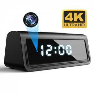 Wifi Clock Camera 4K with Night Vision