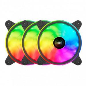 Raidmax 120mm Addressable RGB Fan – Black x3