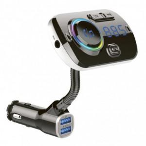 Gizzu Bluetooth Gooseneck Handsfree FM Transmitter + Dual USB Charger