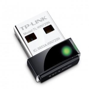 TP-LINK TL-WN725N Nano Wireless N150 Adapter, 150Mbps, IEEE 802.11b/g/n, WEP, WPA/WPA2
