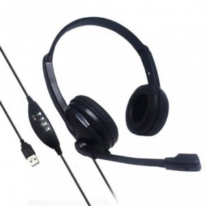 UniQue USB On Ear Stereo Headset With Microphone