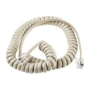 RJ9 Curly Telephone Cable