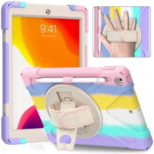 """Tuff-Luv Armour Jane Rugged Candy Case for Kids fits the Apple iPad 10.2"""" (2019/2020/2021) - Multi Colours"""