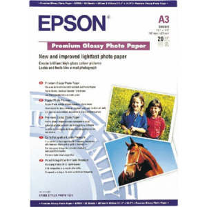 Epson A3 Premium Glossy Photo Paper 20 Sheets 255gms