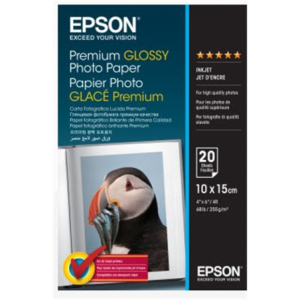 Epson 10 X 15cm Premium Glossy Photo Paper 20 Sheets 255gsm