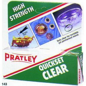 Pratley Quickset Clear Glue