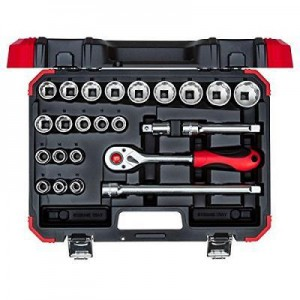 CAROLUS SOCKET WRENCH SET 1/2 INCH, 24-PIECE