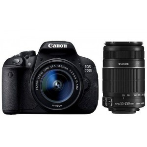 Canon EOS 700D DSLR Camera & 18-55 IS STM & EF-S 55-250mm IS Mk II Double Lens Kit 18 MP