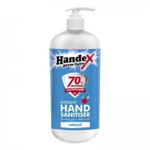 HANDEX HAND SANITISER 70% NATURAL - 1L DISPENSER REFILL