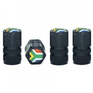 TYRE VALVE CAPS SETS WITH S.A FLAG INSIGNIA