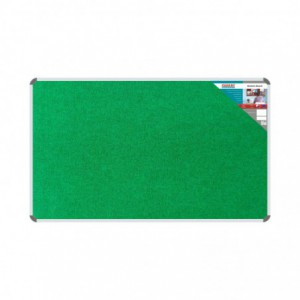 Parrot Bulletin Board Ribbed Aluminium Frame (1500x900mm - Palm)
