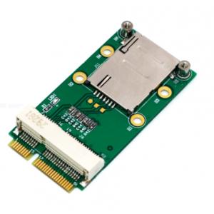 Mini PCI-E Adapter with SIM Card Slot for 3G/4G, WWAN LTE, GPS Card