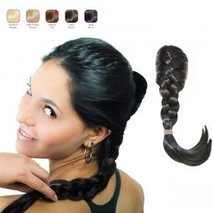 Hollywood Hair French Plat Hair Piece - Bold Black
