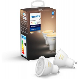 Philips Hue GU10 Wireless LED Bulb - White Ambiance (2-pack)