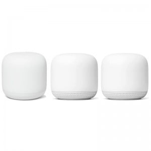 Google Nest Wifi Point and Router  - Snow (3Pack)