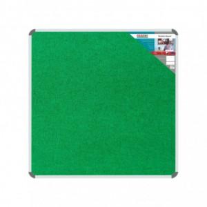 Bulletin Board Ribbed Aluminium Frame (1000x1000mm - Palm)