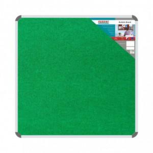 Bulletin Board Ribbed Aluminium Frame (1200x1200mm - Palm)