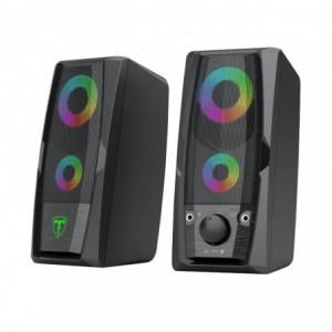 T-Dagger T-TGS550 2 x 3W 3.5mm RGB Speakers - Black