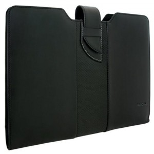 "Targus TES606EU 13 .3"" Black Leather Sleeve for Ultrabook & Macbook"
