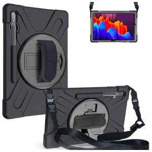 """Tuff-Luv Armour Jack Rugged Case / Stand / Shoulder Strap & Pen Holder for Apple iPad Air 4 10.9"""" (2020) - Black (5055205288949)"""
