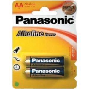 Panasonic Alkaline Power AA Batteries 2 Pack Colour Bronze