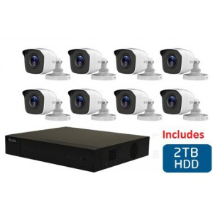 HiLook 8 Channel DVR with 8x 720p HD Bullet Cameras and 2TB hard Disk drive DIY Combo Kit